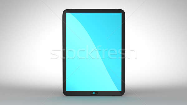 Tablet PC with blue colored screen Stock photo © Arsgera