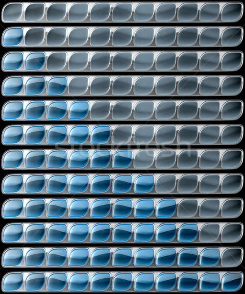Glossy Blue download and upload bars collection Stock photo © Arsgera