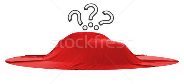 New car reveal with 3 query marks Stock photo © Arsgera