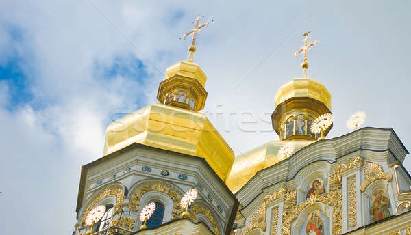 Cupola of Orthodox church and Cloudy sky Stock photo © Arsgera