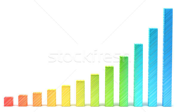 Statistics and analysis: gradient diagram or chart Stock photo © Arsgera