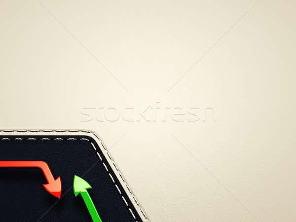 Croissance diminuer cuir modèle utile affaires Photo stock © Arsgera