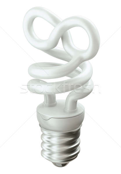 Eternity symbol light bulb isolated on white  Stock photo © Arsgera