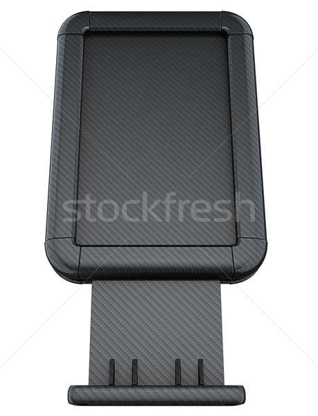 Carbon fibre lightbox on stand isolated Stock photo © Arsgera