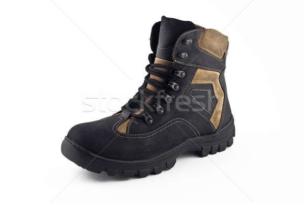 Warm leather boot for traveling in winter Stock photo © Arsgera