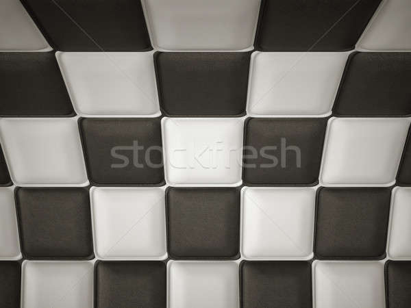 Incurved chequered leather pattern with rectangle segments Stock photo © Arsgera