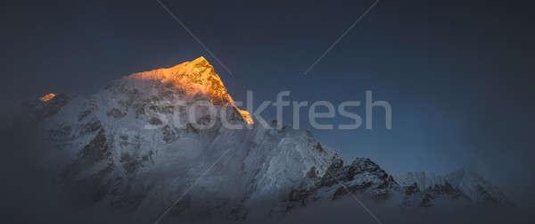 Everest gün batımı büyük panoramik görmek gökyüzü Stok fotoğraf © Arsgera
