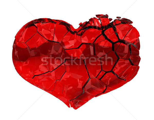 Broken Heart - unrequited love, death, disease or pain Stock photo © Arsgera