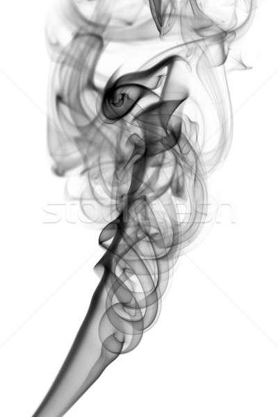Black Abstract fume shape on white Stock photo © Arsgera