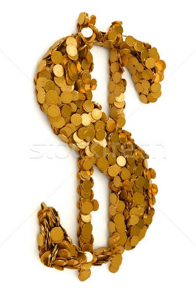 Amerykański Dolar symbol monet odizolowany Zdjęcia stock © Arsgera