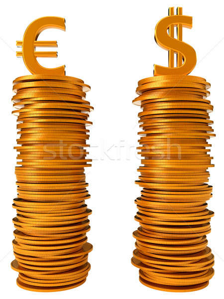 Currency equation - US dollar and Euro Stock photo © Arsgera