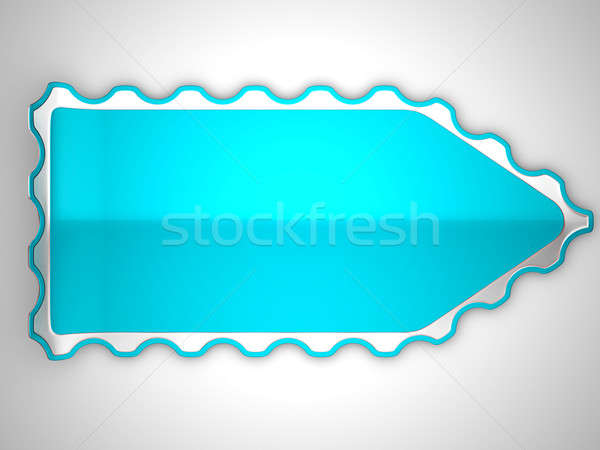 Blue jagged sticker or label  Stock photo © Arsgera
