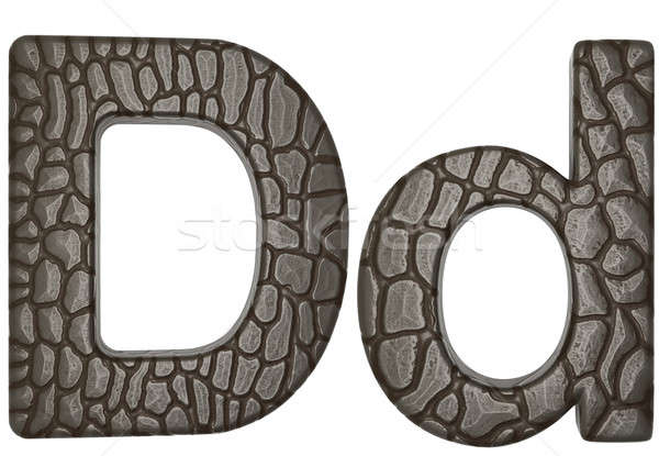Alligator skin font D lowercase and capital letters Stock photo © Arsgera
