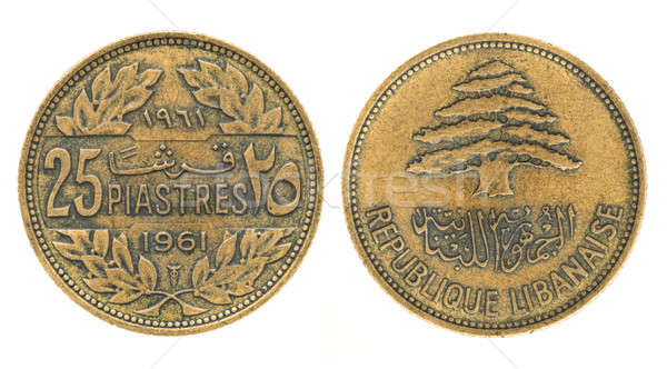 25 piastres or piasters - money of Lebanon Stock photo © Arsgera
