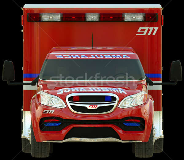 Ambulance: Front view of emergency services vehicle  Stock photo © Arsgera
