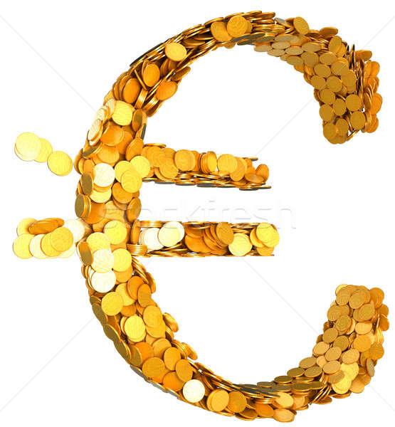 Euro moeda riqueza símbolo moedas Foto stock © Arsgera