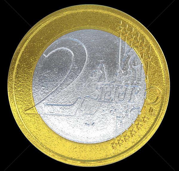 2 Euro coin: European currency Stock photo © Arsgera