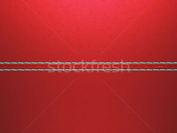 Red luxury stitched leather background Stock photo © Arsgera