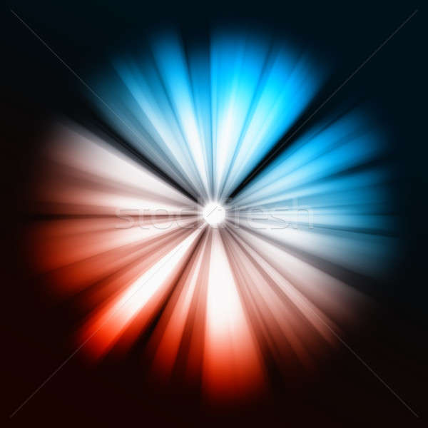 Blue and red Beams of light: shining star  Stock photo © Arsgera