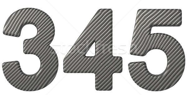 Fibra de carbono fonte numerais isolado branco carro Foto stock © Arsgera