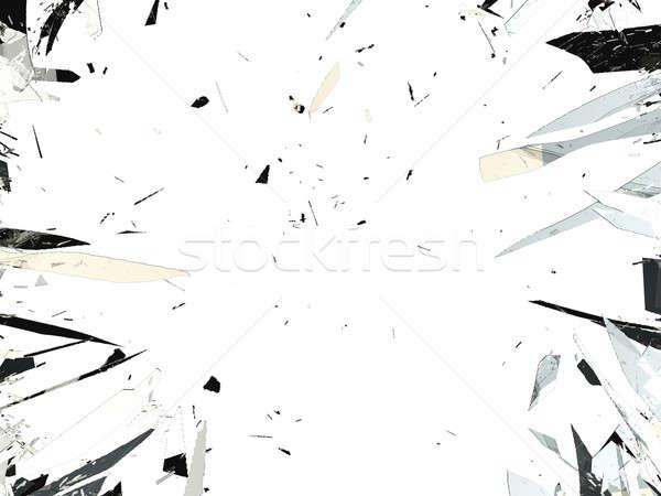 Shattered glass isolated over white background Stock photo © Arsgera