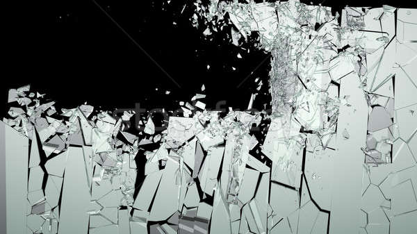 Shattered or smashed pieces of glass Stock photo © Arsgera
