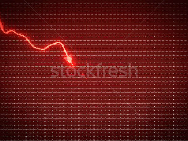 Red graph as economy recession or financial crisis Stock photo © Arsgera