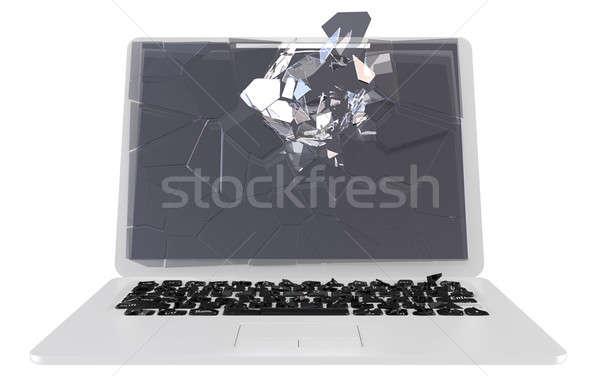 Troiano pc computador portátil dano Foto stock © Arsgera