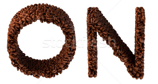 Roasted Coffee font N and O letters Stock photo © Arsgera