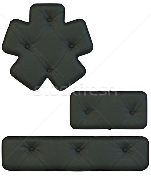 Luxury black leather font hyphen and asterisk Stock photo © Arsgera