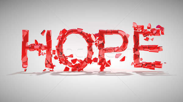 Hope is lost. Word destruction Stock photo © Arsgera