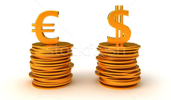 US dollar and Euro Currency equation Stock photo © Arsgera
