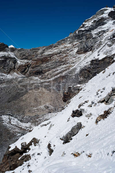 Mountains and snow viewed from Renjo pass in Himalayas Stock photo © Arsgera