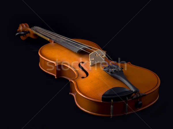 Antyczne skrzypce czarny drewna pomarańczowy dźwięku Zdjęcia stock © Arsgera