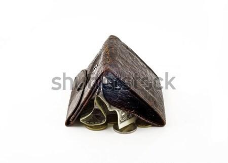 бумажник один доллара изменений изолированный Сток-фото © Arsgera