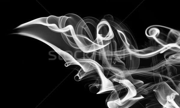Fehér füst absztrakció örvények feketefehér fekete Stock fotó © Arsgera