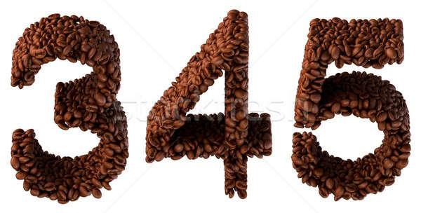 кофе шрифт изолированный белый Сток-фото © Arsgera