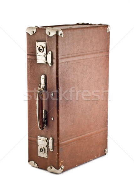 Adventures and travel - old-fashioned trunk Stock photo © Arsgera