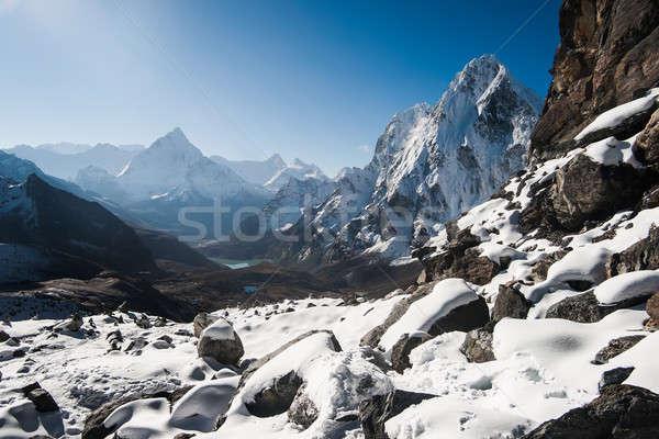 Cho La pass and sunrise in Himalayas Stock photo © Arsgera