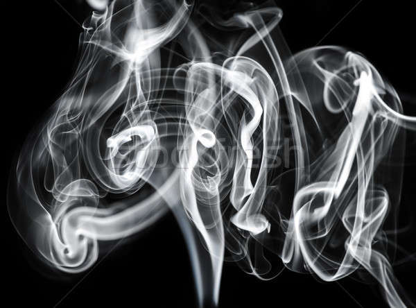 Misterioso branco fumar abstração preto abstrato Foto stock © Arsgera
