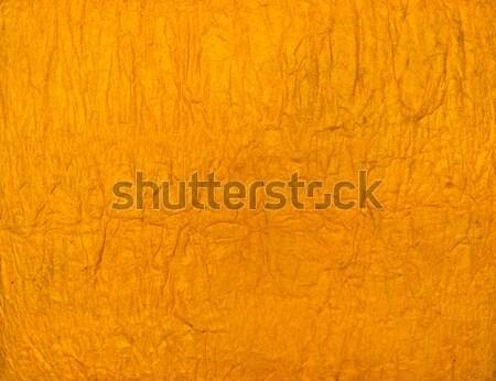 Orange or yellow Handmade paper texture Stock photo © Arsgera