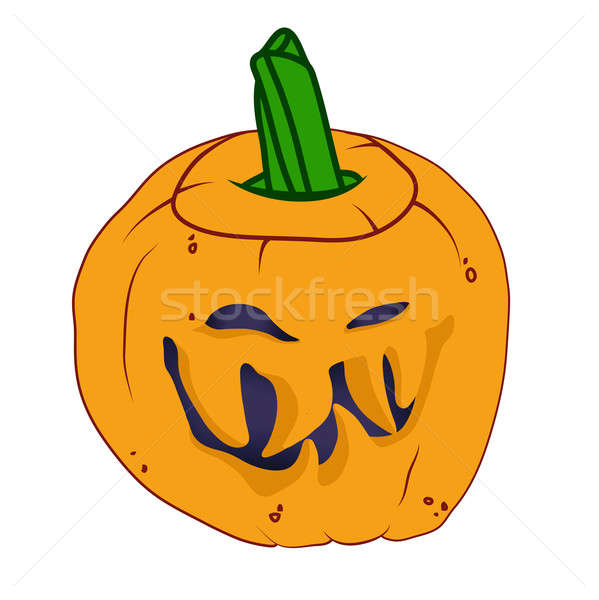 Malicious Halloween pumpkin with smile Stock photo © Arsgera