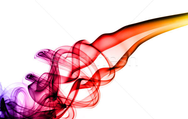Stock photo: Colorful magic fume swirl on white