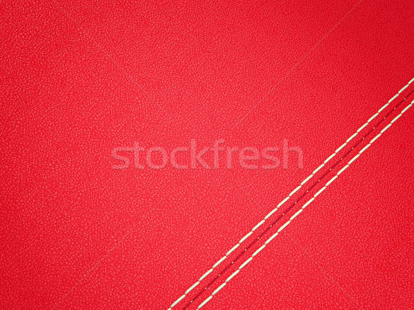 Diagonal stitched red leather background Stock photo © Arsgera