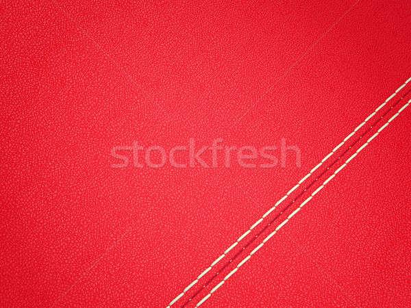 Diagonal rojo cuero grande textura Foto stock © Arsgera