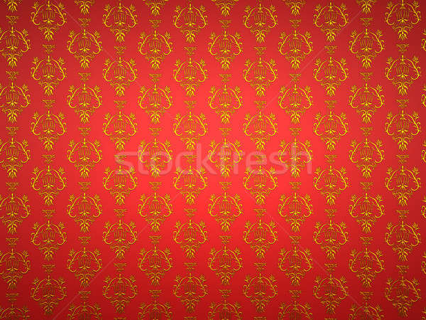 Material with golden and red victorian ornament Stock photo © Arsgera