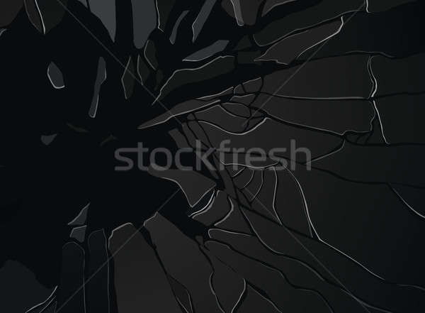 Shattered or demolished glass Pieces on black Stock photo © Arsgera