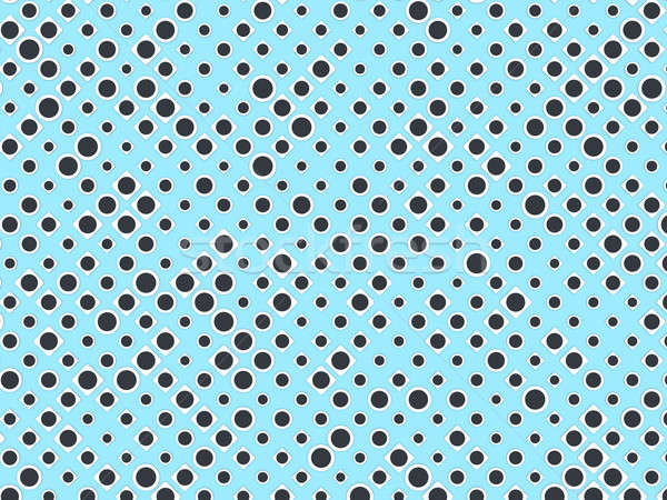 Polka dot pattern with black circles and white rectangles on blu Stock photo © Arsgera