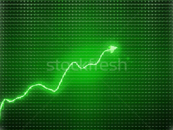 Green trend graph as symbol of economic or business growth Stock photo © Arsgera