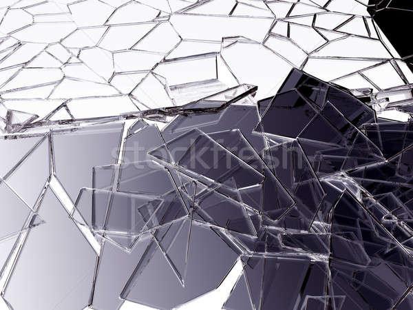 割れたガラス 白 抽象的な デザイン ストックフォト © Arsgera